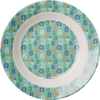 Kids melamine bowl retro number pattern Rice DK