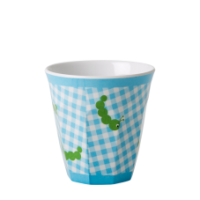 Kids Small Melamine Cup - with Caterpillar print by Rice DK