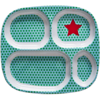 Kids 4 Room Melamine  Plate - Star pattern by Rice DK
