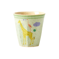 Kids Bamboo Melamine Green Cup Cute Animals By Rice