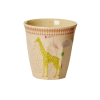 Kids Bamboo Melamine Pink Cup Cute Animals By Rice