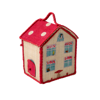 Kids House Shaped Raffia Bag By Rice DK