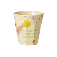 Kids Small Melamine Cup Pink Universe Print Rice DK