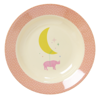 Kids Melamine Bowl Girl Universe & Animal Prints Rice DK