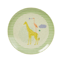 Kids Melamine & Bamboo Plate Boy Colours & Animal Prints Rice DK