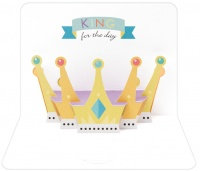 King's Crown 3D Greeting Card By FORM