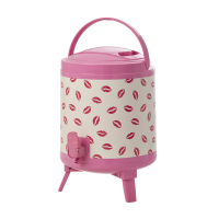 8L Drinks Cooler Tank Pink with Kiss Print By Rice DK