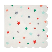 Colourful Star Print Large Paper Napkins By Meri Meri