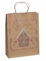 Christmas Gift Bag - Gingerbread House