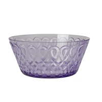 Lavender Swirl Embossed Acrylic Serving Bowl Rice DK