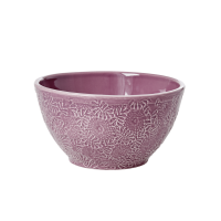 Lavender Stoneware Salad Bowl by Rice DK