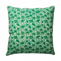 Leaf & Flower Print Large Cushion Rice DK