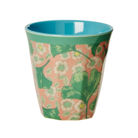 Leaves and Flower Print Melamine Cup By Rice DK