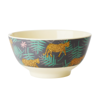 Leopard & Leaves Print Melamine Bowl By Rice DK