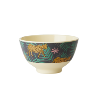 Leopard & Leaves Print Small Melamine Bowl By Rice DK