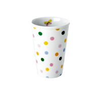 Porcelain Tall Cup with Dot Print By Rice DK