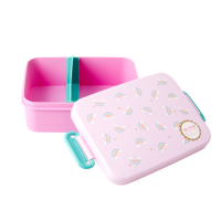 Pink Rainbow Print Lunchbox By Rice DK