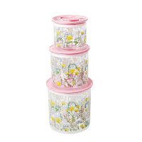 Set of 3 Lupin Print Storage Pots By Rice DK