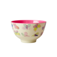 Butterfly Print Small Melamine Bowl By Rice DK