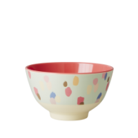 Small Melamine Bowl Dapper Dot Print By Rice DK