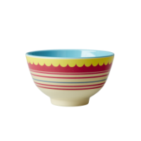 Small Red Striped Melamine Bowl By Rice DK