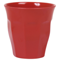 Red Melamine Cup - by Rice DK