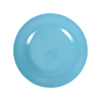 Turquoise melamine side plate or kids plate by Rice DK