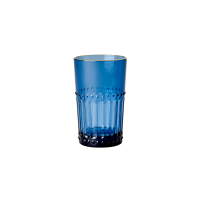 Blue  Acrylic Medium Tumbler Gold Rim Rice DK