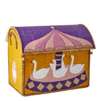 Medium Sized Carousel Theme Raffia Toy Storage Baskets Rice DK