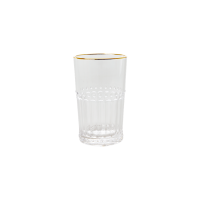 Clear  Acrylic Medium Tumbler Gold Rim Rice DK