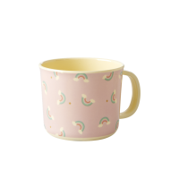 Baby Melamine Cup with Handle Rainbow Print Rice DK