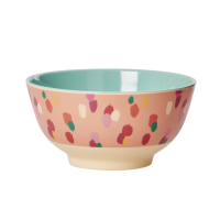 Coral Dapper Dot Print Two Tone Melamine Bowl By Rice DK