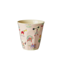Pink Circus Print Melamine Childs Cup Rice DK