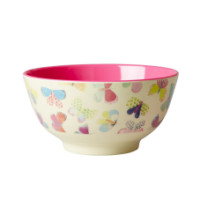 Rice Dk Colourful Butterfly Print Melamine Bowl
