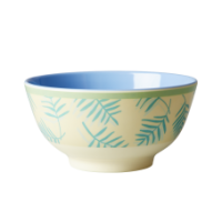 Rice Dk Palm Leaves Print Melamine Bowl