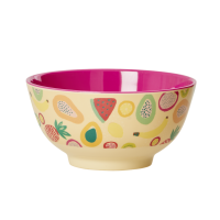 Colourful Tutti Frutti Print Melamine Bowl By Rice DK