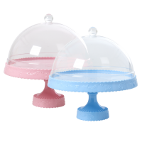 Melamine Cake Stand with Dome By Rice DK