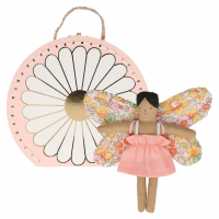 Butterfly Daisy Mini Doll with Suitcase By Meri Meri