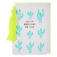 Cactus & Tassel Birthday Card By Meri Meri