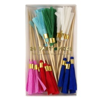 Coloured Tassel Party Picks By Meri Meri