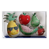 Set of Fruit Shaped Cookie Cutters By Meri Meri
