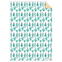 Green Cactus Print Wrapping Paper by Meri Meri