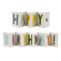Happy Birthday Banner Card By Meri Meri