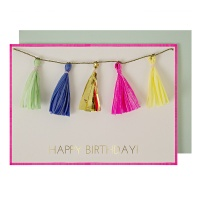 Coloured Tassels Birthday Card By Meri Meri