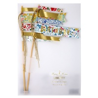 Liberty Print Cake Flags By Meri Meri