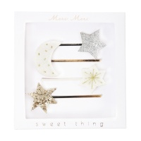 Moon and Star Hair Slides By Meri Meri
