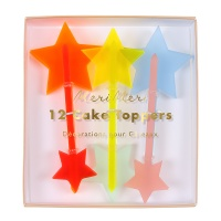 Neon Acrylic Cake Star Toppers By Meri Meri