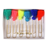 Colourful Tassel Paper Clips By Meri Meri