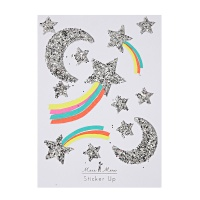 Silver Shooting Star Glitter Stickers by Meri Meri