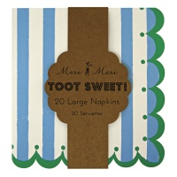 Blue Stripe Large Paper Napkins By Meri Meri